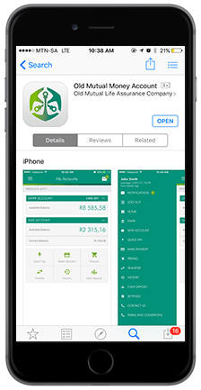 Old Mutual Banking App Screen Layout 2
