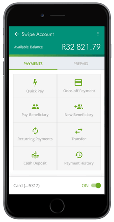 Old Mutual Banking App Screen Layout